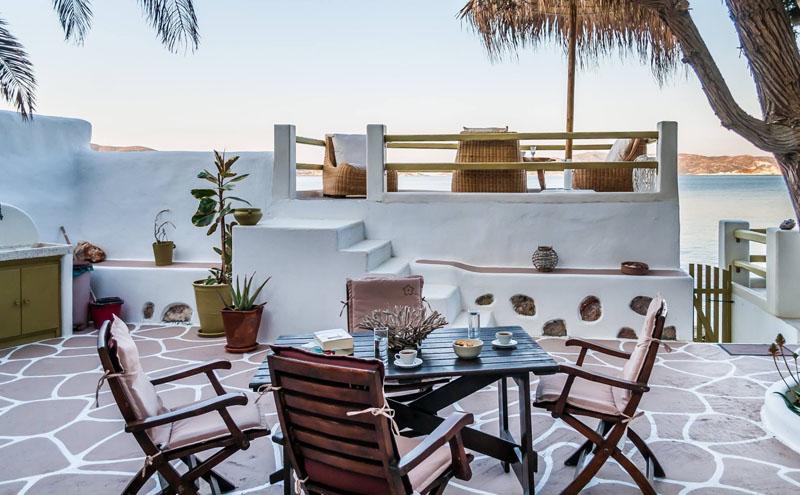 Milos apollonia villa lord locations iles cyclades for Jardin katerina